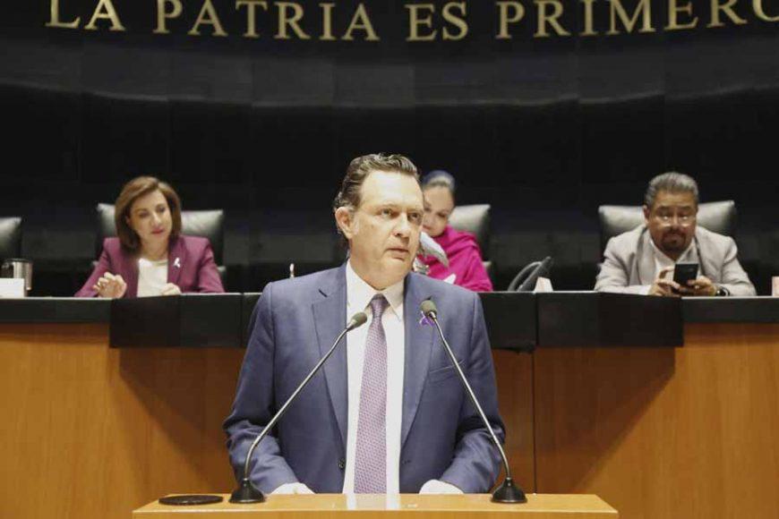 Intervención en tribuna del Coordinador de los senadores del PAN, Mauricio Kuri González, al referirse al acuerdo por el que se suspenden eventos en el Senado en previsión del Covid 19.