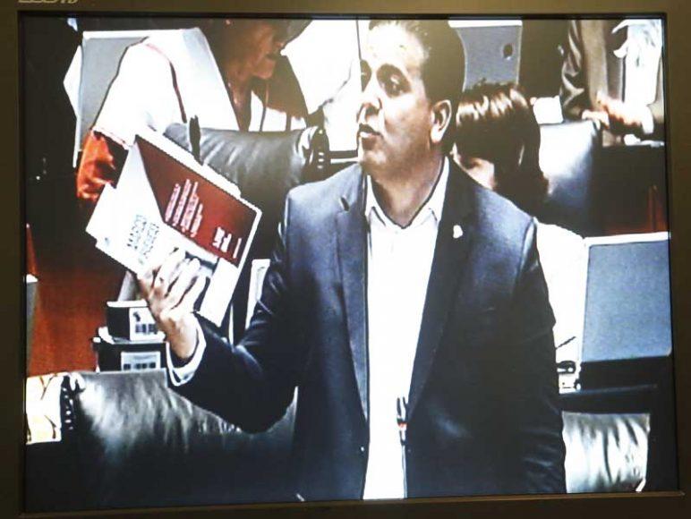 Intervención desde su escaño del senador Damián Zepeda Vidales para solicitar a la Mesa Directiva la inclusión de una iniciativa al orden del día de la sesión