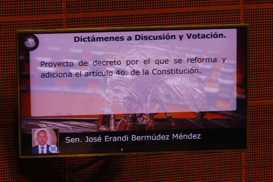 Intervención del senador Erandi Bermúdez Méndez, al presentar el posicionamiento del GPPAN respecto de un dictamen de las comisiones unidas de Puntos Constitucionales y de Estudios Legislativos Segunda, por el que se reforma el artículo 4o. de la Constitución.