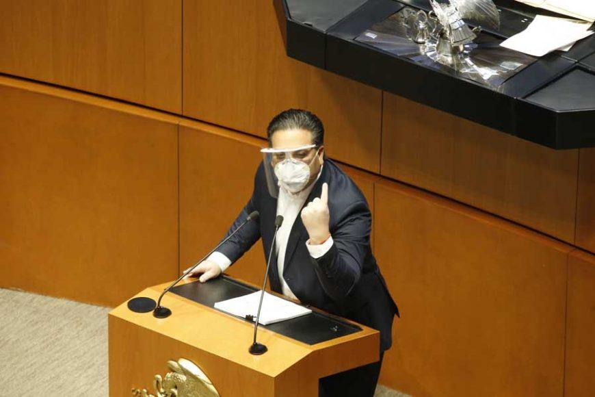 Senador Damián Zepeda Vidales para hablar en contra del dictamen de Ley de Amnistía