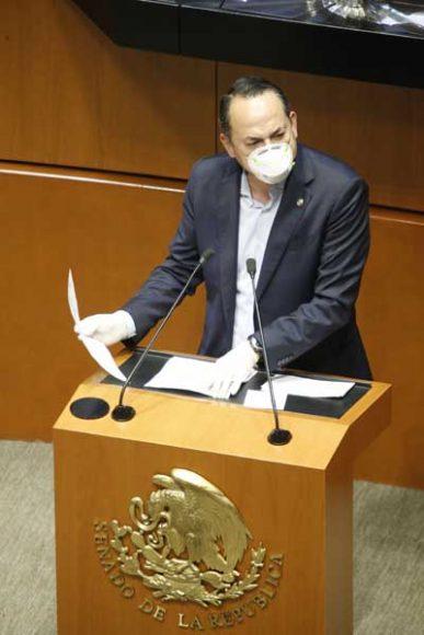 Intervención del senador Erandi Bermúdez Méndez, al presentar reservas a un dictamen de las comisiones unidas de Gobernación y de Estudios Legislativos Segunda sobre la Ley de Amnistía.