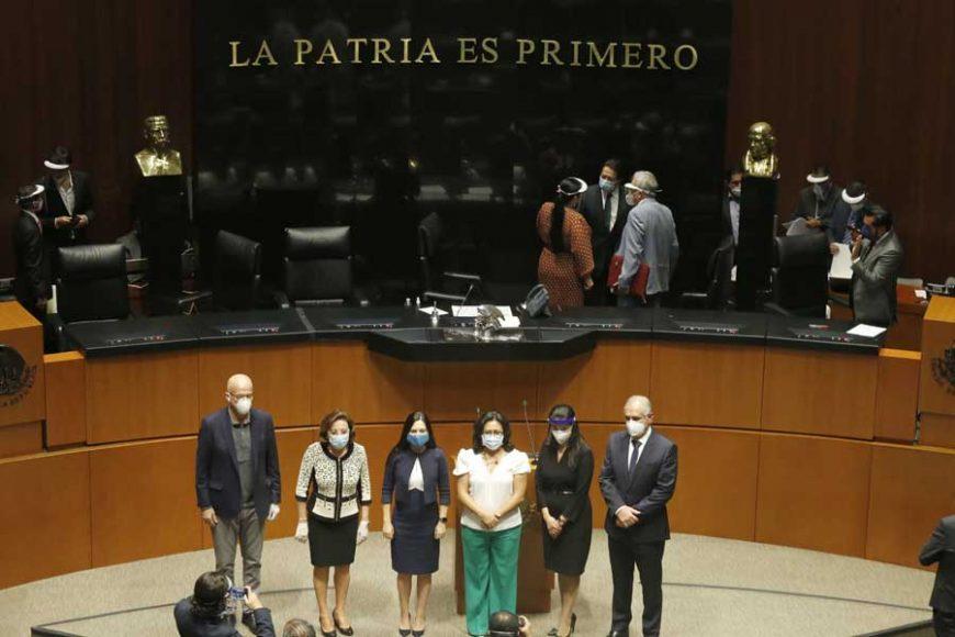 Grupo legisladores del PAN al término de la Comisión Permanente