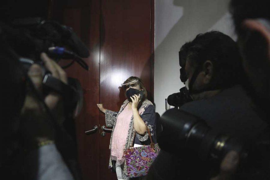 Senadora Xóchitl Gálvez Ruiz al ser entrevistada