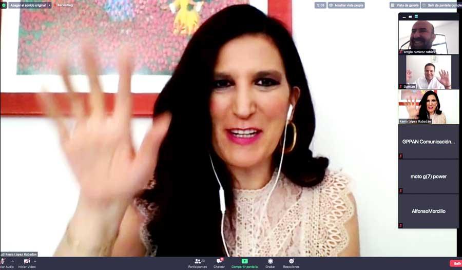 GPPAN dice sí al T-MEC, pero exige que Morena incluya los temas para atender la epidemia de Covid-19, Kenia López Rabadán, Damián Zepeda Vidales