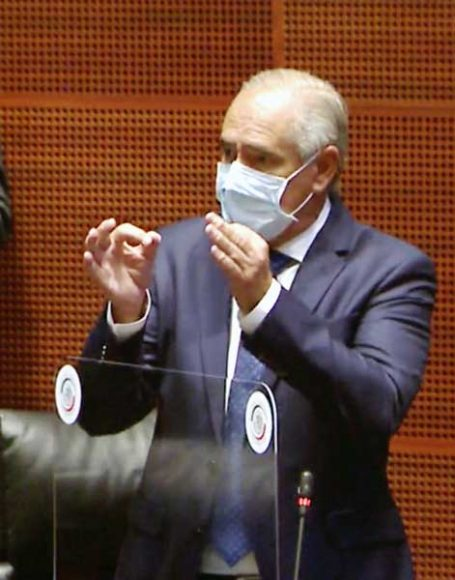 Senador Julen Rementería del Puerto al intervenir en la sesión de la Permanente.
