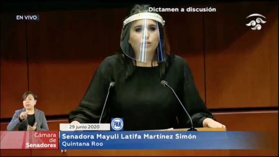Intervención de la senadora Mayuli Latifa Martínez Simón, al participar en la discusión de los cinco dictámenes relativos a la armonización legislativa en materia de la entrada en vigor del T-MEC.