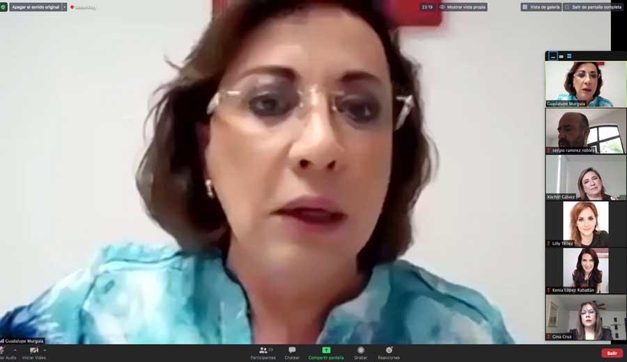 Lilly Téllez, Xóchitl Gálvez Ruiz, Kenia López Rabadán, Guadalupe Murguía Gutiérrez, Gina Cruz Blackledge,