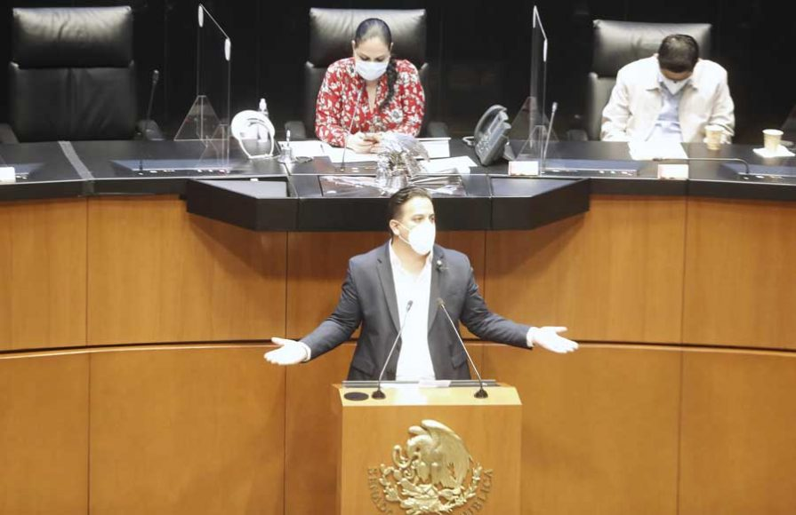 Intervención en tribuna del senador Damián Zepeda Vidales para presentar reservas a un dictamen de las Comisiones Unidas de Economía; de Salud y de Estudios Legislativos, Segunda, el que propone la aprobación del proyecto de decreto por el que se expide la Ley Federal de Protección a la Propiedad Industrial.