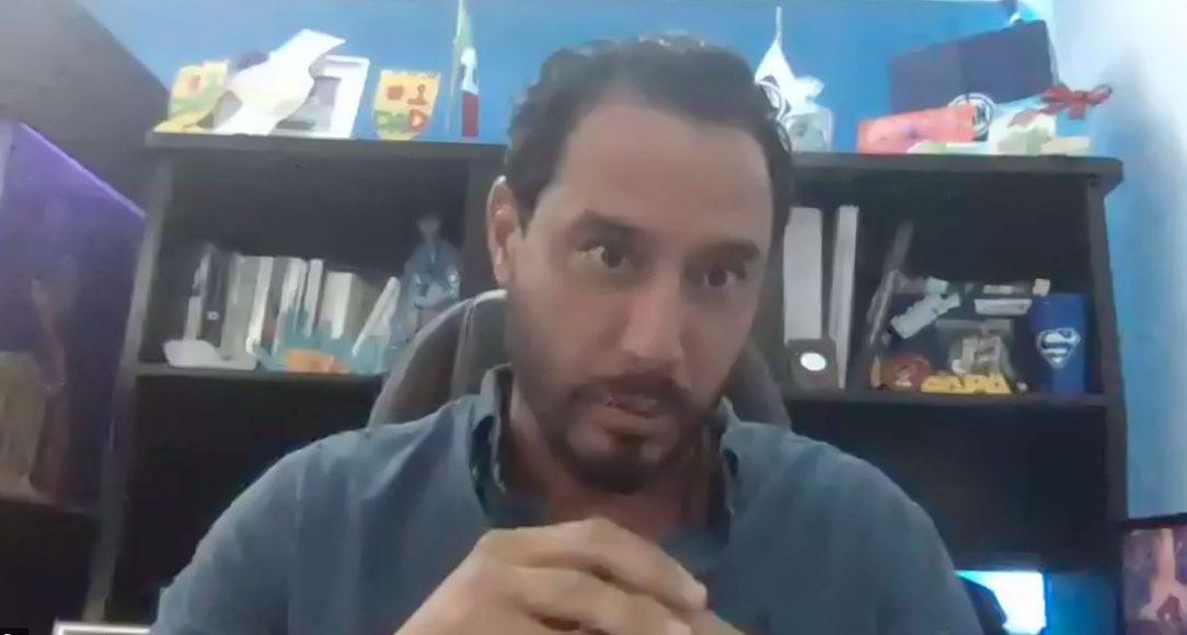 """El senador del Grupo Parlamentario del PAN y presidente de la Comisión de Recursos Hidráulicos, Raúl Paz Alonzo, en conjunto con el Consejo Consultivo del Agua A.C, durante la clausura del foro virtual """"Iniciativas y propuestas de cambio para enriquecer el marco jurídico del agua""""."""