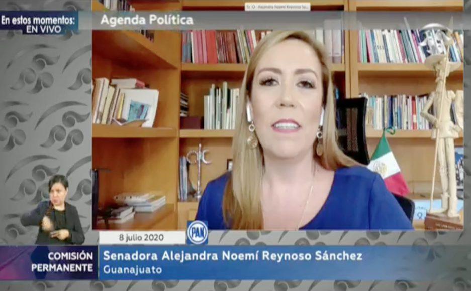 14.29.Intervención de la senadora Alejandra Reynoso Sánchez, para referirse a la situación de violencia en el Bajío, durante la sesión virtual de la Comisión Permanente.copia