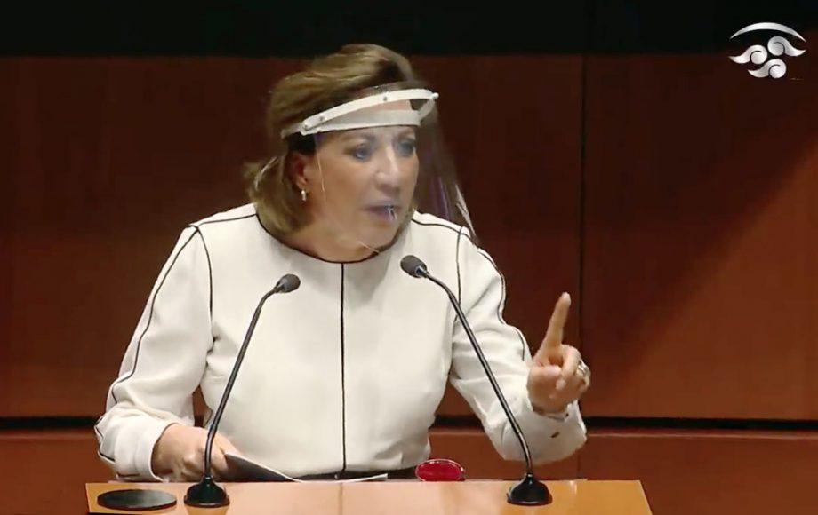 La senadora Guadalupe Murguía Gutiérrez, al intervenir en tribuna durante la sesión de la Comisión Permanente