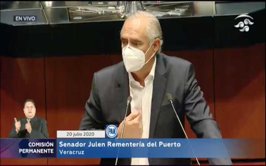 senador Julen Rementería del Puerto para referirse al periodo extraordinario convocado por la Comisión Permanente.