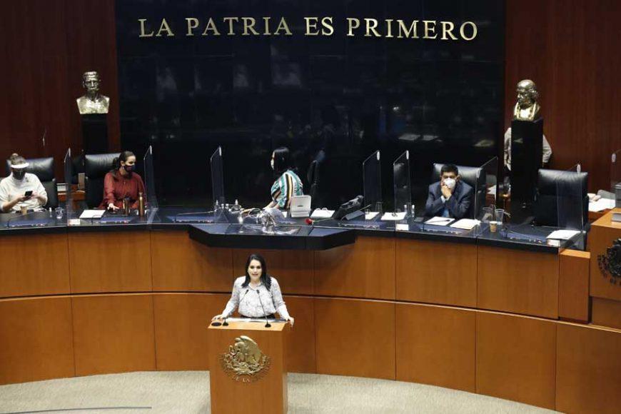 Intervención en tribuna de la senadora Mayuli Latifa Martínez Simón, durante la discusión de un dictamen que reforma y adiciona el artículo 167 del Código Nacional de Procedimientos Penales y demás disposiciones legales para incluir los tipos penales que ameritan prisión preventiva oficiosa.