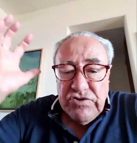"""Senador Raúl Paz Alonzo, al durante el ciclo de conferencias: """"Iniciativas y propuestas de cambio para enriquecer el Marco Jurídico del Agua"""""""