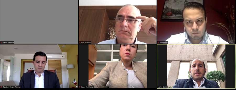 Participación del senador Julen Rementería del Puerto, en la conferencia de prensa del CEN del PAN, encabezada por su presidente, Marko Cortés Mendoza.