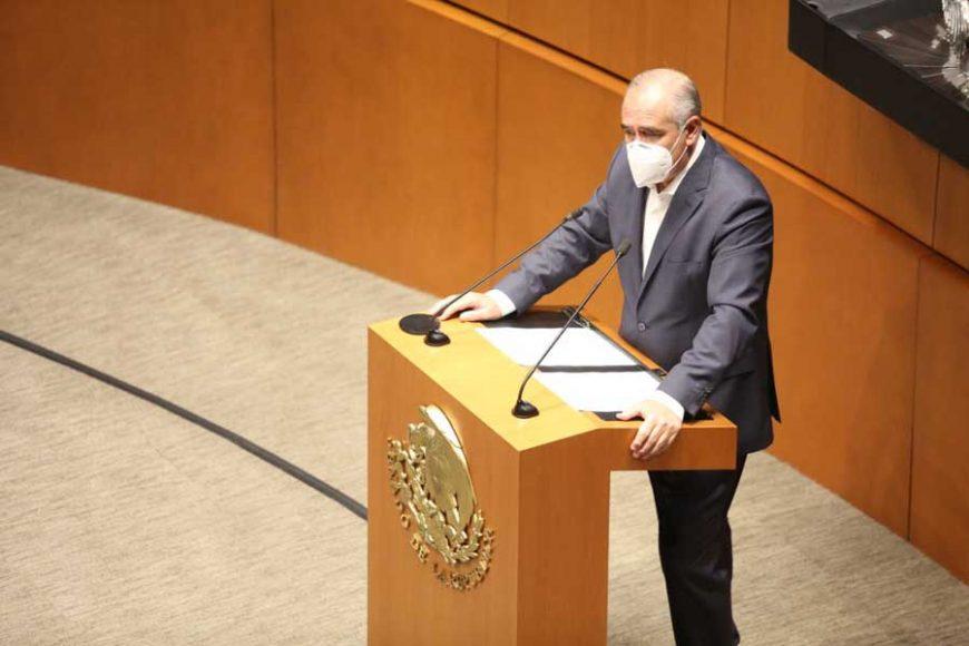 Intervención en tribuna del senador Julen Rementería del Puerto para presentar los dictámenes de la Primera Comisión de la Comisión Permanente.