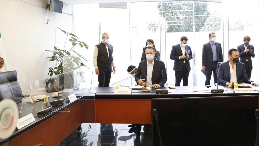 Participación del Coordinador de las y los senadores del PAN, Mauricio Kuri González, al término de la reunión de la Jucopo