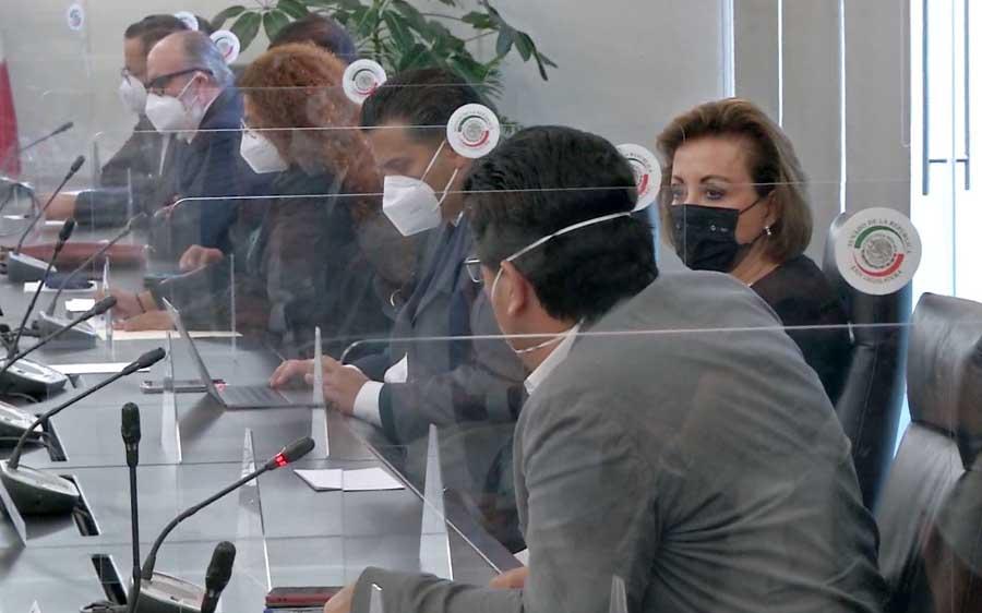 Senadoras y senadores del PAN, durante la recepción del Paquete Económico 2021