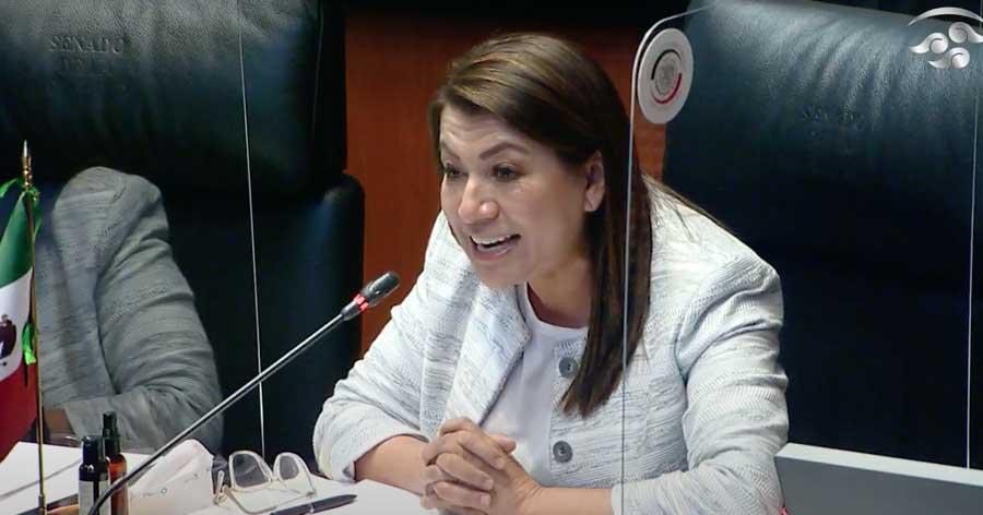 Intervención, desde su escaño, de la senadora Guadalupe Saldaña Cisneros