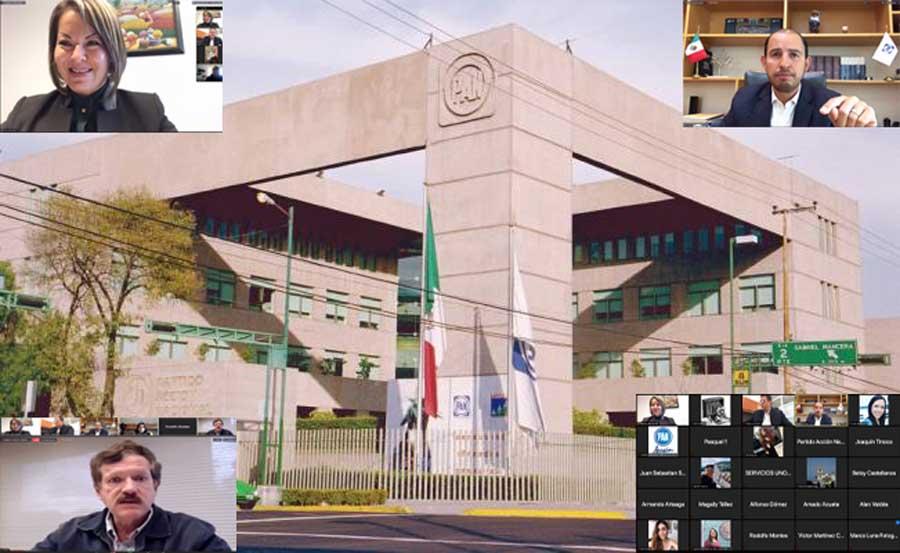 Participación de la senadora Minerva Hernández Ramos, durante la conferencia ofrecida  por el CEN del PAN, y encabezada por su presidente Nacional Marko Cortés Mendoza