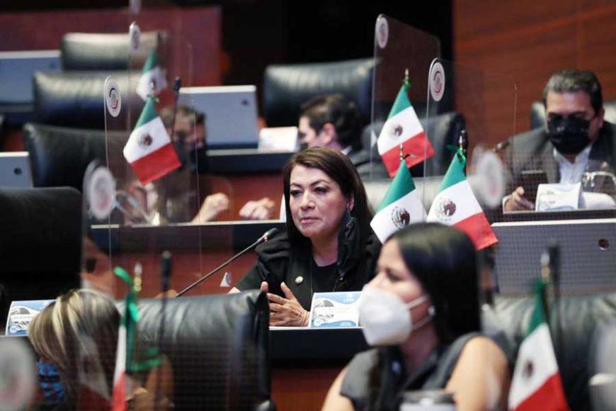 Senadoras y senadores del PAN al intervenir desde su escaño