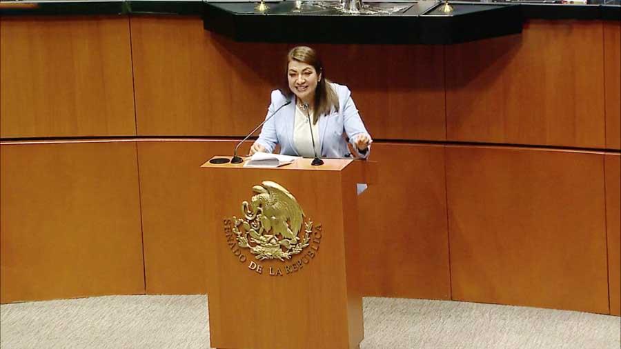 Intervención en tribuna de la senadora Guadalupe Saldaña Cisneros para referirse a un dictamen de las Comisiones Unidas Gobernación; de Federalismo y Desarrollo Municipal; y de Estudios Legislativos, el que contiene proyecto de decreto por el que se adicionan diversas disposiciones de la Ley General de Bienes Nacionales.