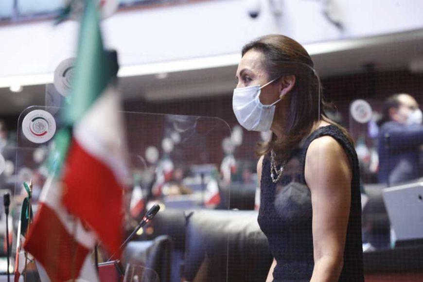 intervención desde su escaño de la senadora Josefina Vázquez Mota