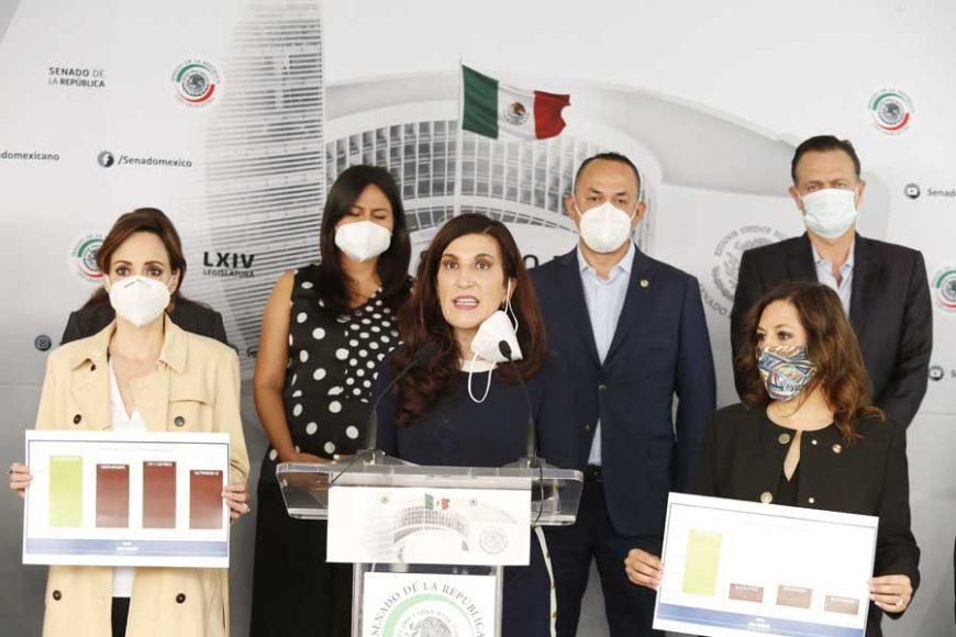 Conferencia de prensa del Grupo Parlamentario del PAN para hablar sobre derechos humanos y el derecho del agua en el estado de Chihuahua