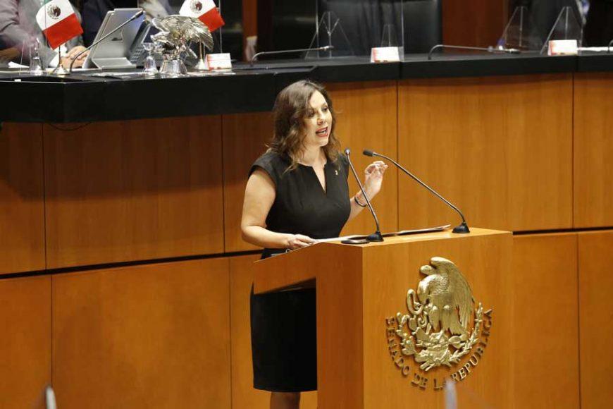 Intervención en tribuna de la senadora Gina Andrea Cruz Blackledge, para presentar iniciativa con proyecto de decreto por el que se reforma el artículo 123 apartado B fracción XIII de la Constitución Política de los Estados Unidos Mexicanos.