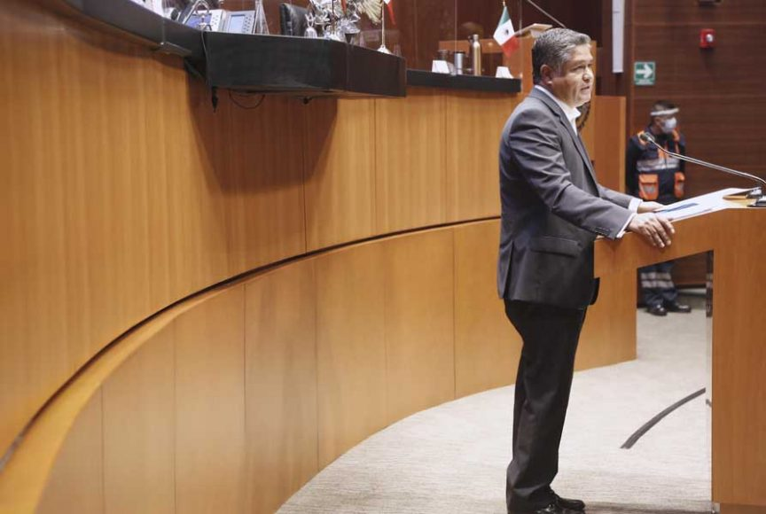 Intervención del senador Víctor Fuentes Solís para referirse al análisis del Segundo Informe de Gobierno, en materia de política interior.