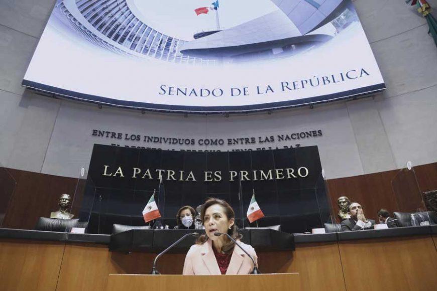 Intervención en tribuna de la senadora Josefina Vázquez Mota para presentar dictamen que reforman y adicionan diversas disposiciones de la Ley General de los Derechos de Niñas, Niños y Adolescentes; de la Ley General de Salud; y de la Ley General de Educación en materia de vacunación.