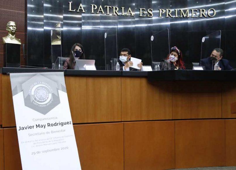 Intervención de la senadora Gloria Núñez Sánchez, durante la comparecencia del secretario del Bienestar, Javier May Rodríguez, con motivo del análisis del Segundo Informe de Gobierno.
