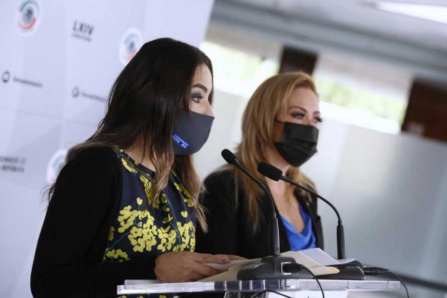 Conferencia de prensa ofrecida por las senadoras Alejandra Reynoso Sánchez y Martha Cecilia Márquez Alvarado, previo al inicio de la sesión ordinaria