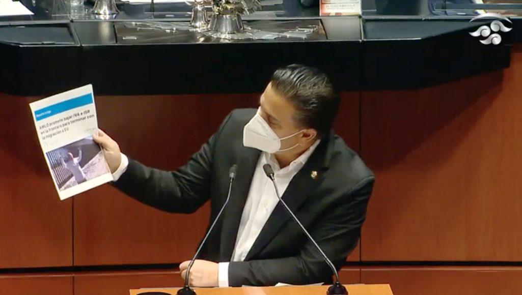 Senador Damián Zepeda Vidales, al presentar reservas a un dictamen en materia de Egresos 2021
