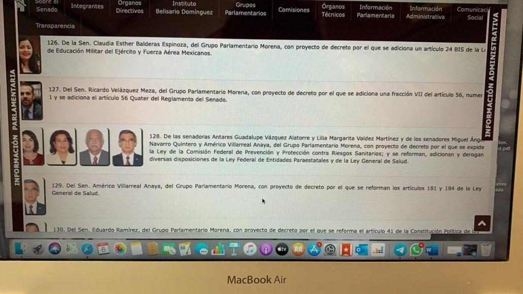 Intervención inicial de la senadora Alejandra Reynoso Sánchez, durante la conferencia de prensa del GPPAN, para afirmar que las senadoras y senadores panistas insistirán en hacer de la COFEPRIS un órgano autónomo a pesar de regaño de AMLO a Morena