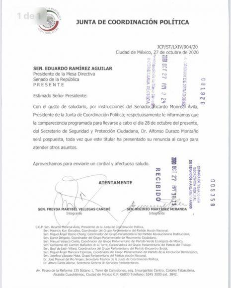 2020.10.27 OFICIO GPPAN DURAZO