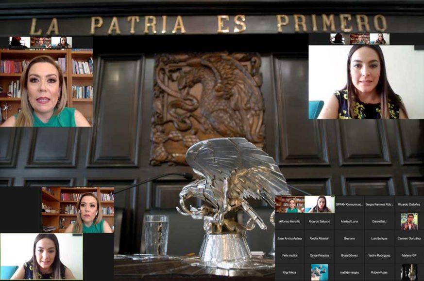 Exige GPPAN mejores condiciones para el personal de salud que combate la pandemia, conferencia de prensa, Senadora Alejandra Reynoso Sánchez, Senadora Martha Cecilia Márquez Alvarado