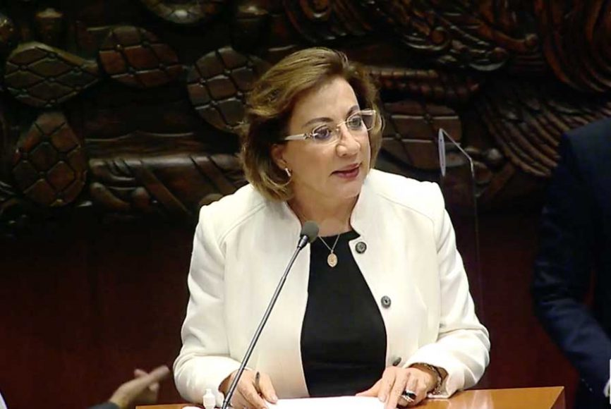 intervención en tribuna de la senadora Guadalupe Murguía Cisneros durante la comparecencia del secretario de Educación Pública, Esteban Moctezuma Barragán, en el marco del análisis del II Informe de Gobierno del Presidente de la República.
