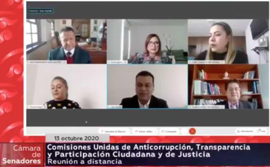 Participación de la senadora Xóchitl Gálvez Ruiz y el senador Damián Zepeda Vidales, durante las entrevistas a aspirantes para ocupar el cargo de Comisionado o Comisionada del Instituto Nacional de Transparencia, Acceso a la Información y Protección de Datos Personales (INAI), como parte de los trabajos de la Comisión de Anticorrupción, Transparencia y Participación Ciudadana.
