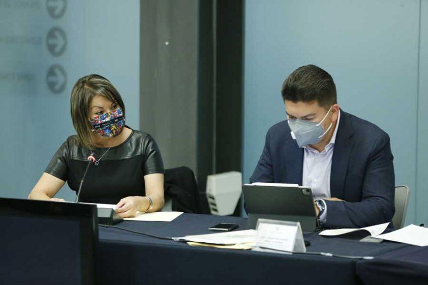 Sen. Minerva Hernández al intervenir en reunión de comisiones unidas de Hacienda y Gobernación