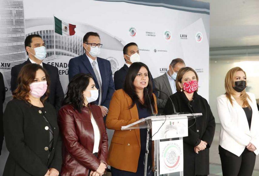 Intervención de la senadora Indira de Jesús Rosales San Román, durante la conferencia del GPPAN, en la que afirmó que es una incongruencia que Morena apoye el circo electoral del Presidente y rechace dar un apoyo económico a los mexicanos afectados por la crisis