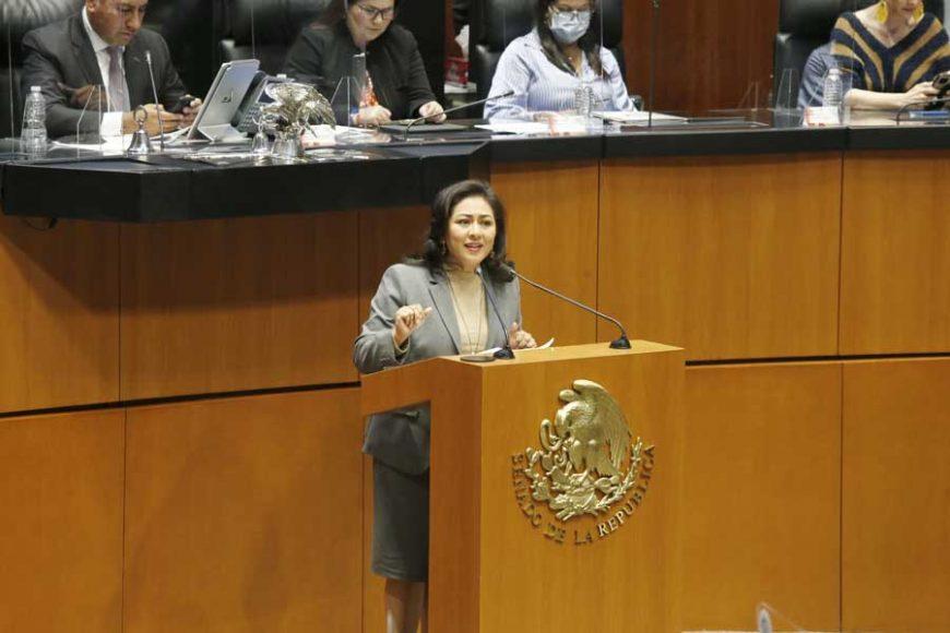 Senadora Nadia Navarro Acevedo para presentar el posicionamiento del GPPAN al dictamen que resuelve sobre la procedencia y trascendencia de la petición de consulta popular presentada por el Presidente de la República, y se expide la convocatoria de consulta popular