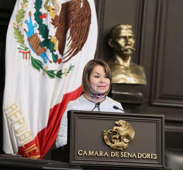 Intervención en tribuna de la senadora Minerva Hernández Ramos para presentar el posicionamiento del GPPAN al dictamen que contiene proyecto de decreto que reforma y deroga diversas disposiciones de leyes en materia de extinción de fideicomisos
