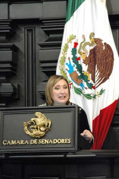 Senadora Xóchtil Gálvez Ruiz para referirse al dictamen que contiene proyecto de decreto reforma y deroga diversas disposiciones de leyes en materia de extinción de fideicomisos.