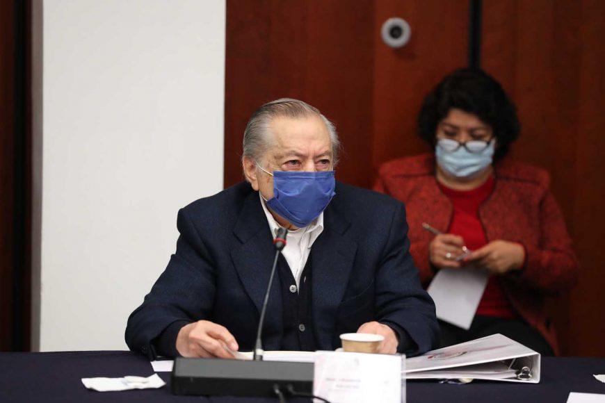 Martha Márquez Alvarado y el senador Francisco Javier Salazar Sáenz,