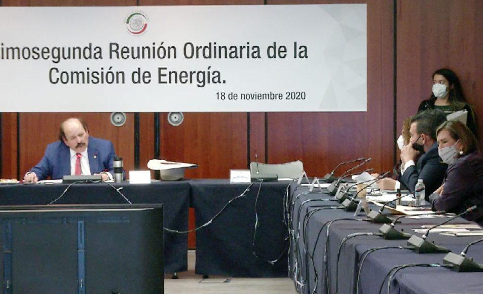 Senadora Xóchitl Gálvez Ruiz, al participar en la reunión de trabajo de la Comisión de Energía