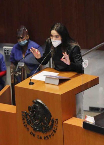Intervención en tribuna de la senadora Martha Cecilia Márquez Alvarado, para referirse al dictamen de las Comisiones Unidas de Salud y de Estudios Legislativos, Segunda, el que contiene proyecto de decreto por el que se adiciona un párrafo segundo del artículo 77 Bis 17 y se reforma el párrafo segundo del artículo 77 Bis 29 de la Ley General de Salud.
