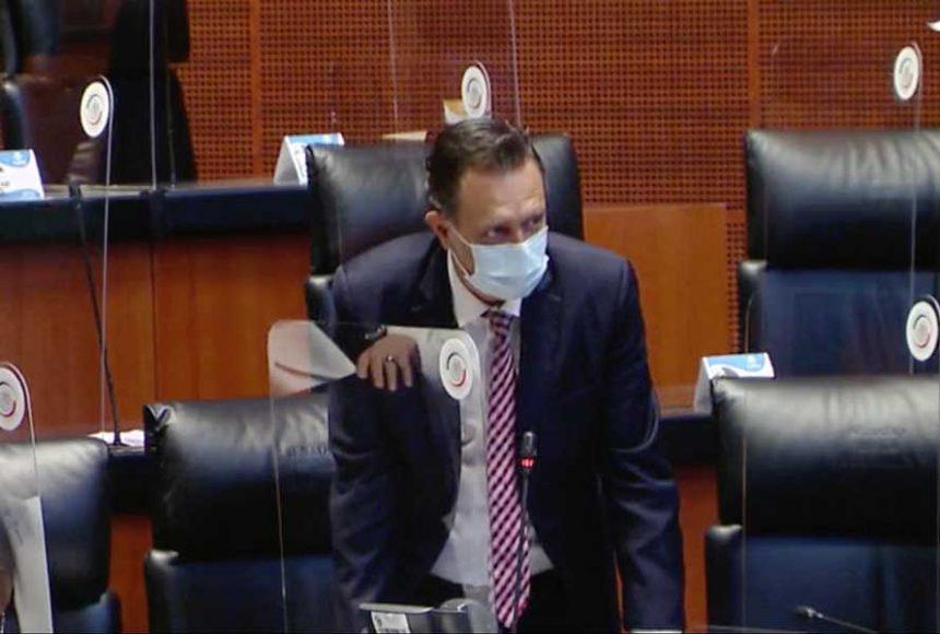 Intervención desde su escaño del coordinador de las y los senadores del PAN, Mauricio Kuri González, para referirse a la solicitud de licencia del senador Gustavo Madero Muñoz.