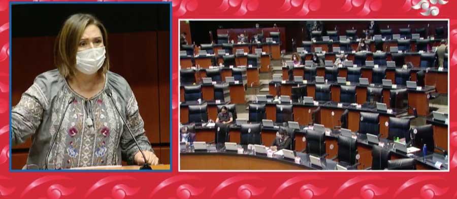 Audio de la intervención en tribuna de la senadora Xóchitl Gálvez Ruiz, para presentar a nombre propio y del Sen. Mauricio Kuri González, iniciativa con proyecto de decreto por el que se adicionan diversas disposiciones a la Ley General para la Igualdad entre Mujeres y Hombres
