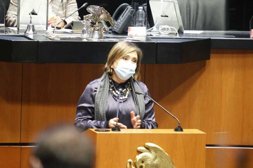 Intervención en tribuna de la senadora Xóchitl Gálvez Ruiz para referirse al dictamen de la Comisión de Marina que ratifica los ascensos de diversos grados navales.